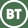 BT Logo White