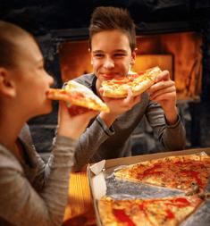enjoying pizza-1